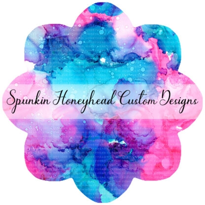 Flash Round 38 - Alcohol Ink Stains - Pink/Aqua/Purple