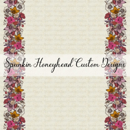 Round 42 - Autumn Magic - Double Border - Floral Cream Sparkle
