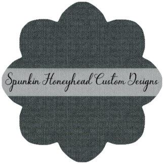 Limited Release - Slubbed Florals - Denim Texture - Dark Sage